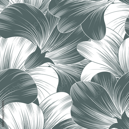 Seamless fancy vector floral pattern Wallpaper Mural