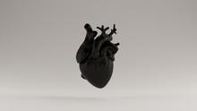 Black  Heart Anatomical 3d Ill...