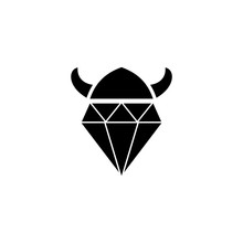 Diamond Viking Symbol Logo Design