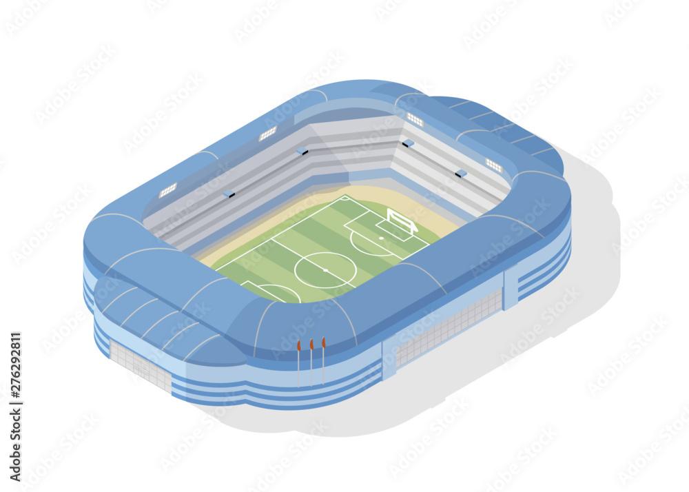 Fototapeta Isometric soccer stadium