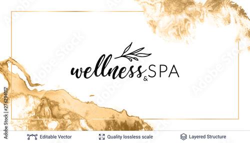 Beauty SPA care salon cosmetologist logo design. Poster Mural XXL