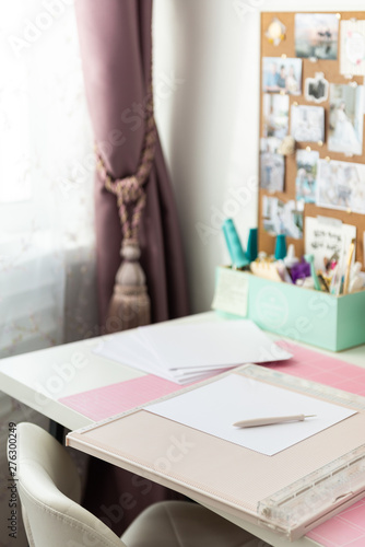 Craft room, working place Fototapeta