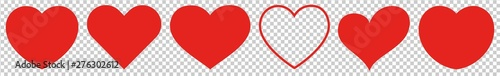 Heart Red Isolated Transparent | Love | Logo | Variations Fototapeta