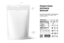 Pouch Bags Mockup With Nutriti...