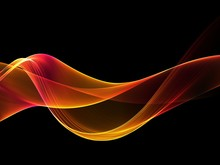 Abstract Orange Waves Background. Template Design
