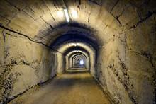 Entrance To BunkArt 1 (Bunk'Art) At Tirana, Albania. Nuclear Bunker Transformed Into History Museum