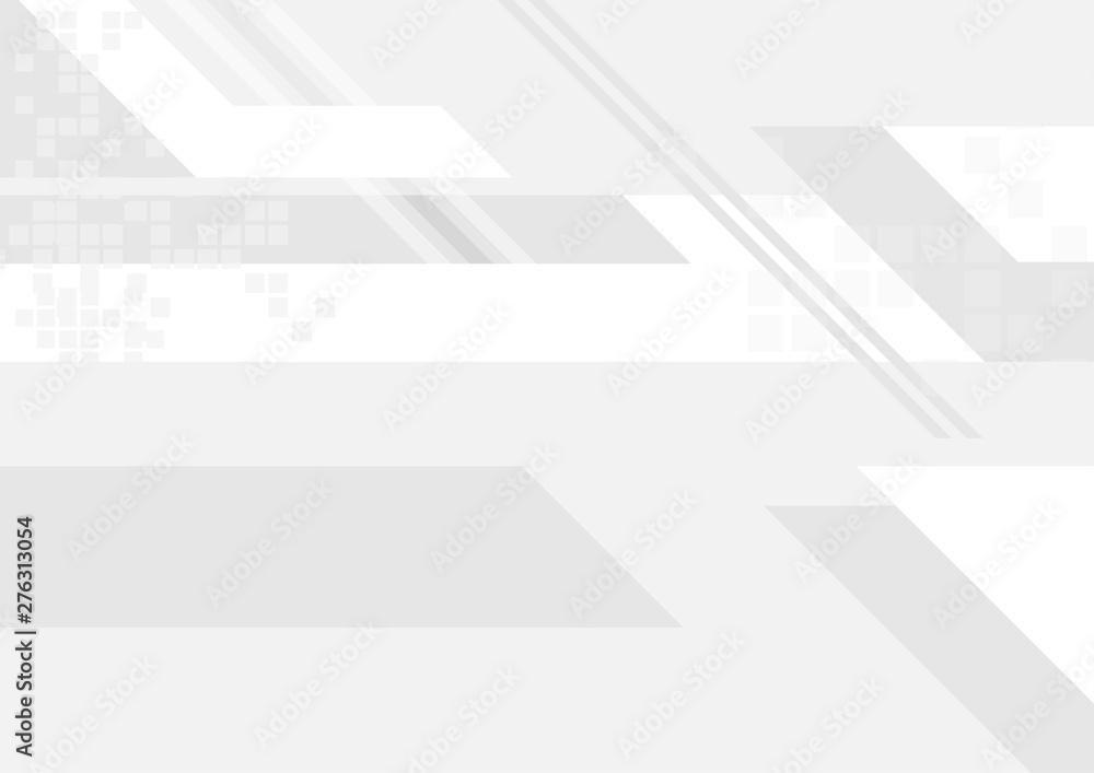 Fototapeta Grey white tech geometry abstract background