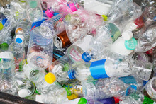 Plastic Bottles In Recycle Trash Station
