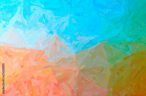 Photo  Abstract illustration of orange Impressionist Impasto background