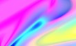 canvas print picture - Liquid Chromatic Holographic Texture, Wrinkled Foil Background. Gas Fuel Rainbow.