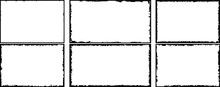 Set Of Frames In Grunge Style. Text Templates Black And White.