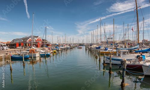 Fototapeta Harbor marina in Juelsminde for small boats, Jutland Denmark