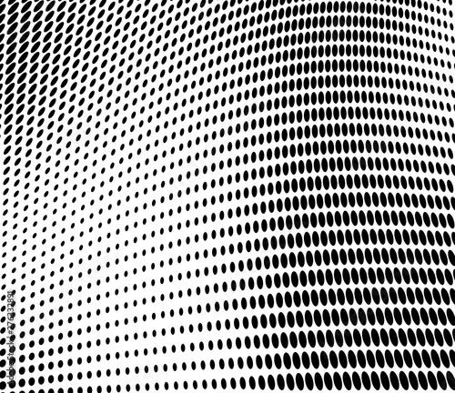 Türaufkleber Darknightsky Halftone monochrome abstract background chaotic.