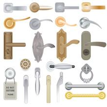Door Handle Vector Doorknob To...
