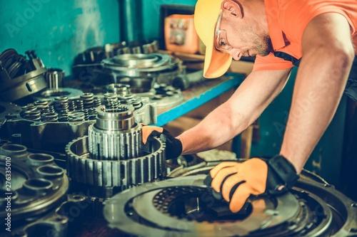 Staande foto Eigen foto Heavy Equipment Parts