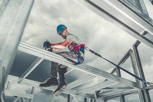 Skeleton Frame Worker Safety Canvas Print