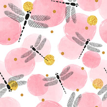 Abstract Pink Circles Pattern ...