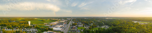 Aerial panorama Lumberton North Carolina USA - 276338483