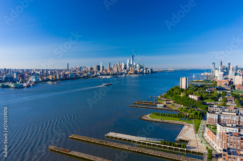 Aerial shot of the Hudson River New York USa Fototapet