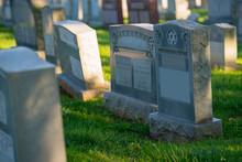 Gravestones In A Jewish Cemetery