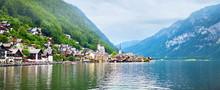 Panorama Of Hallstatt Lake And...