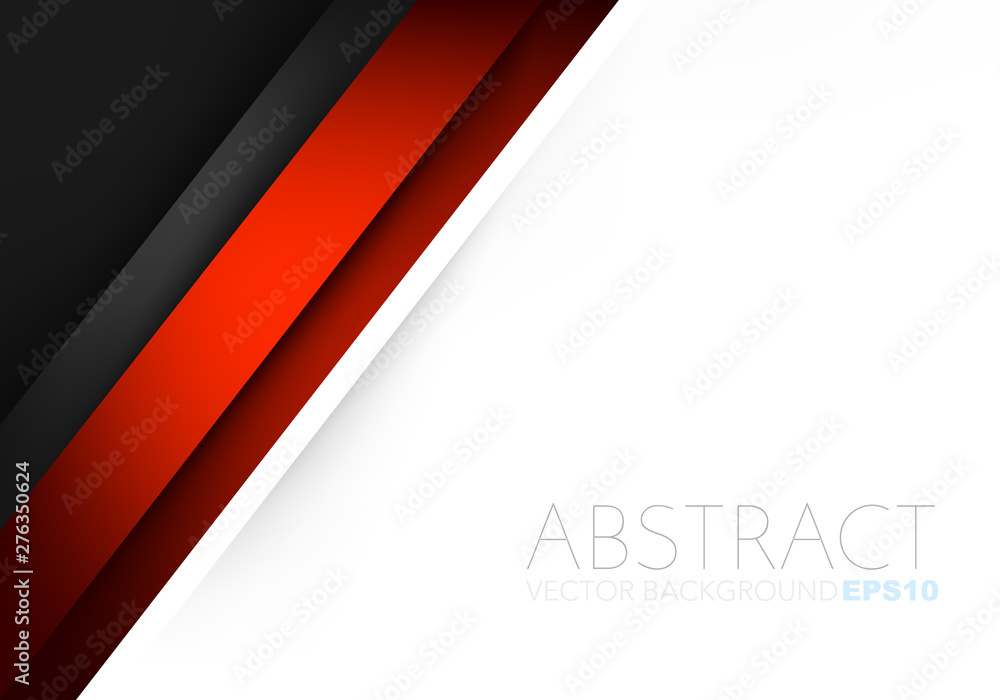 Fototapety, obrazy: Red vector red background with ribbon