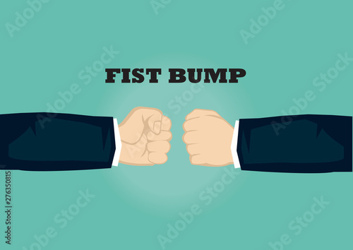 Fototapeta  Clenched Fists of Businessman Vector Illustration for Fist Bump
