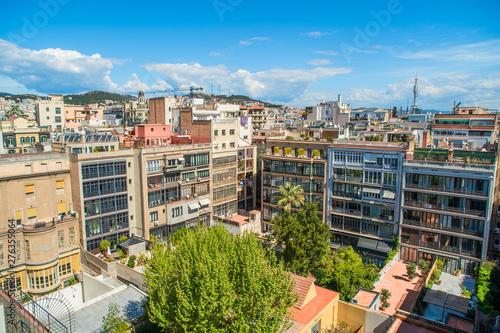 Photo  BARCELONA, SPAIN - APRIL 2019: Barcelona City view from above, Barcelona, Spain