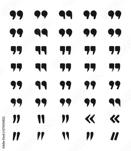Obraz na plátně  Set of quotes symbols
