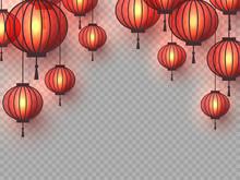 3d Chinese Hanging Lanterns Wi...