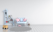 Blue Sofa In Child Room For Mo...