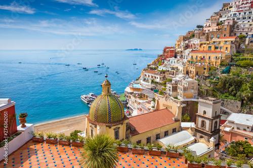 Keuken foto achterwand Kust Beautiful Positano on Amalfi Coast in Campania, Italy