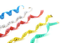 Colorful Measuring Tapes Isola...