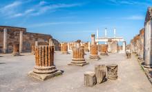 Ancient Ruins Of Pompei City (Scavi Di Pompei), Naples, Italy