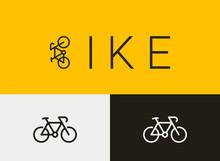 Bike Icon-Logo, Simple Monoline Concept