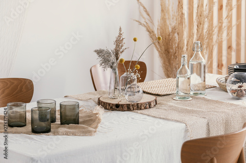 Close-up of natural simple decoration on the table Slika na platnu