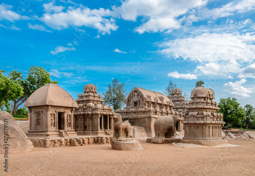 shore temple chennai mahabalipuram Fototapet