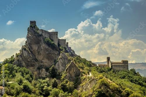 View of the Roccascalegna castle in Abruzzo, Italy Wallpaper Mural