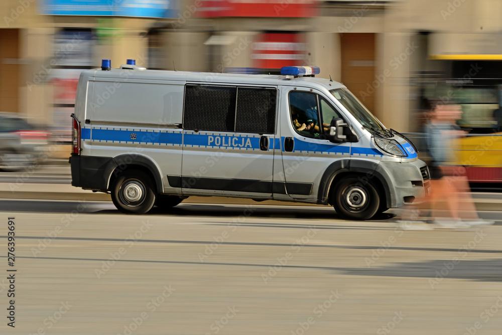 Fototapety, obrazy: Policja