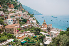 View Of The Town Of Positano W...
