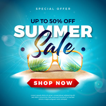 Summer Sale Design With Exotic...