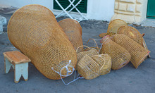 Crab Traps, Lobster Trap Made By A Craftsman From Gallipoli, Apulia. Italy
