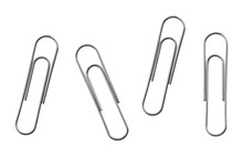 Silver Paper Clips Isolated On...