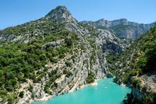 Gorges Du Verdon, Beautiful Canyon In The Alpes De Haute Provence, France