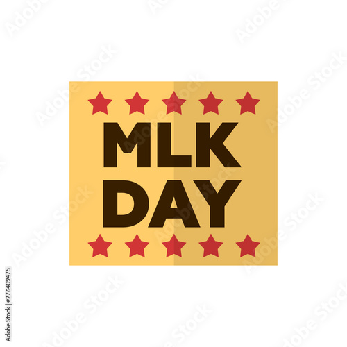Fotomural martin luther king day flat vector icon