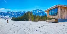 Panorama Of Areitalm Alpine Meadow, Zell Am See, Austria