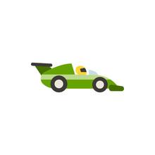 Racing Car Flat Vector Icon