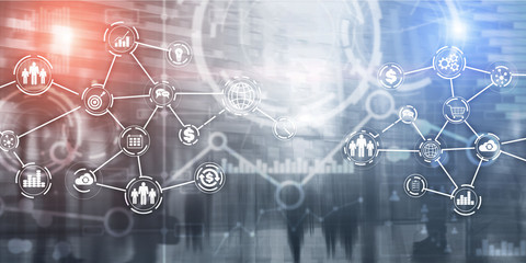 Futuristic in Industry business virtual diagram. Buying Communication concept