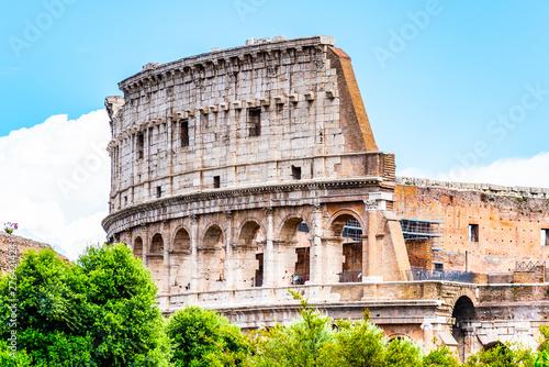 Colosseum, Coliseum or Flavian Amphitheatre, in Rome, Italy Tablou Canvas