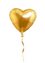 Golden Heart Shaped Air Balloo...